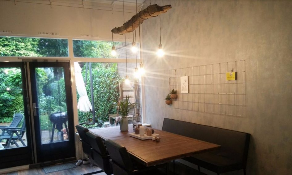 Houten balk lamp